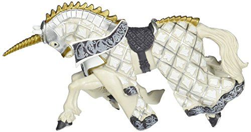 Unicorn Horse Silver (Papo Weapon Master Unicorn Horse Toy)