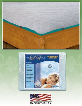 Linen Superstore Anchor Band Waterbed Mattress Pad King Waterbed 72