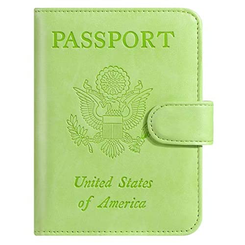 Pascacoo Leather Passport Holder Buckle Сlosure