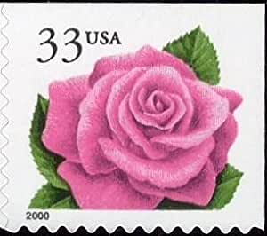Coral Pink Rose 20 x 33 Cent US Stamps NEW 2000