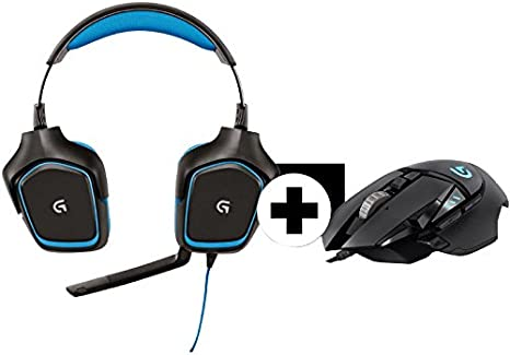 Logitech G430 Gaming Headset + G502 Gaming Mouse – Black