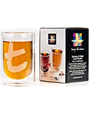 Dilmah, Double Walled Glass, Suitable for Hot or Cold Beverages, Perfect for Hot Tea, Iced Tea, Milk, Coffee, Shakes, Smoothies, Tea Cocktails or Tea Mocktails, 8oz Capacity, Pack of 2