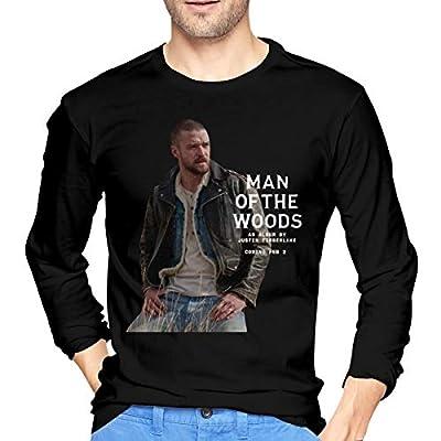 MadisonOndde Mans Justin Timberlake Man of The Woods Fashion Music Band Long Sleeves T-Shirt Gift
