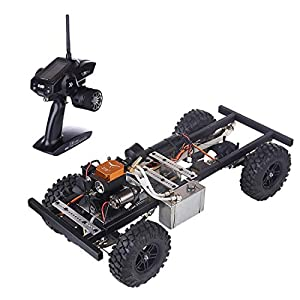 deguojilvxingshe 1:10 Nitro RC Car, DIY Modified 4CH 2.4Ghz RC Car Ready to Run Remote Control Car with TOYAN FS-S100A