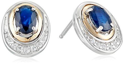 sg-sterling-silver-and-14k-yellow-gold-sapphire-and-white-sapphire-accent-framed-stud-earrings