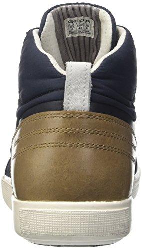 Geox U Taiki B Abx D, Zapatillas Altas para Hombre Azul (Navy/Shellscf41V)