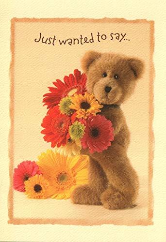 Card Boyds Greeting - Boyd's Thank You Card - Teddy Bear Flowers