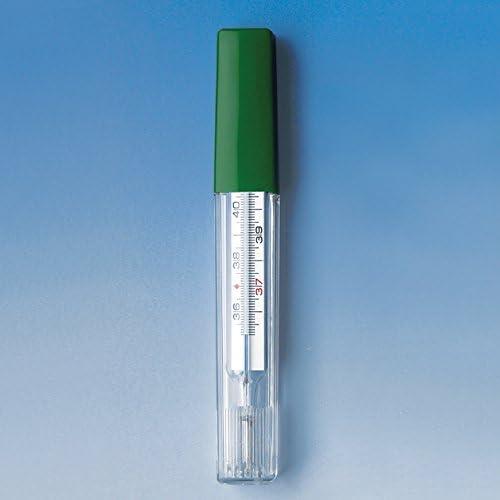 Fieberthermometer Glas Meditemp,ohne Quecksilber in Kunststoffh/ülle,