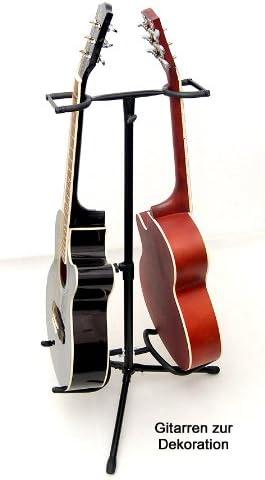 2 capas Soporte para guitarra metal doble guitarra Stand para ...