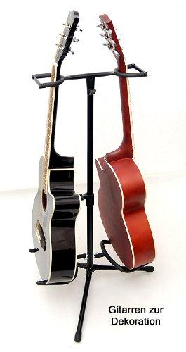 2 capas Soporte para guitarra metal doble guitarra Stand para akusitk Guitarra y guitarra eléctrica: Amazon.es: Instrumentos musicales