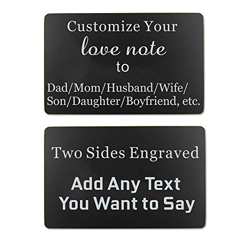 Custom Engraved Wallet Insert Card Love Note Personalized Gift (Custom wallet insert card) (Tall Wallet Insert)