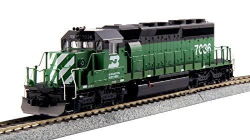 Sd40 2 Locomotive - Kato USA Model Train Products HO EMD #7036 SD40-2 Mid Burlington Northern Standard Train