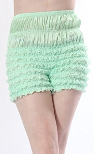 - Malco Modes Womens Sexy Ruffle Panties Tanga Dance Bloomers Sissy Booty Shorts (XX-Large, Light Green)