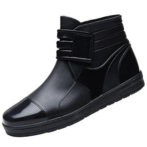 Shorty da Scarpe Boot da Stivali Impermeabile Antiscivolo Stivaletti Pioggia per Equitazione Boots Nero Xinwcang Uomo Martin OwCC0