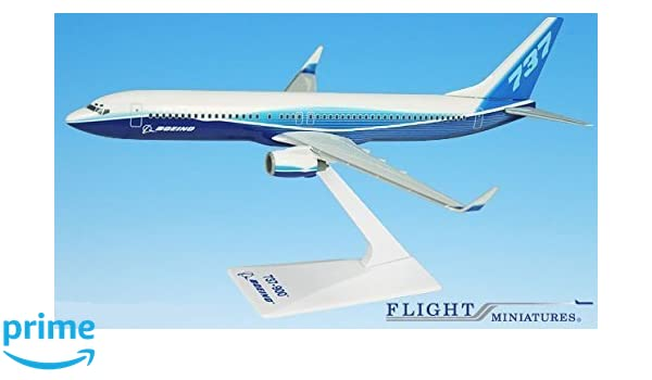 737-900w Airplane Miniature Model Plastic Snap Fit 1:200 Part# ABO-73790H-005 Genesis Worlwide Boeing Demo 04-Cur