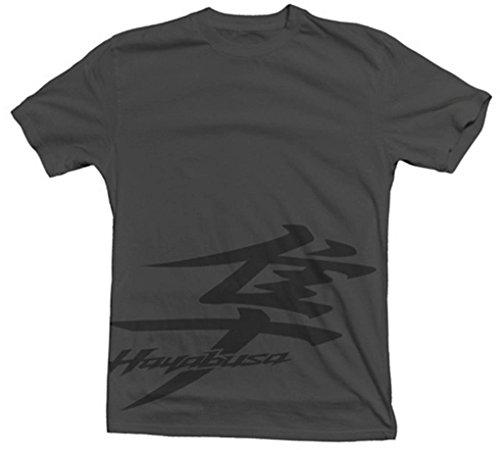 Suzuki GSX1300R Hayabusa Kanji Logo Stealth Short Sleeve T-Shirt Grey Small