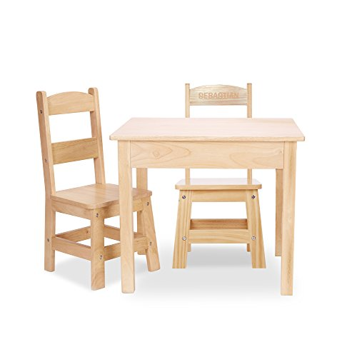 Melissa & Doug Solid Wood Table and 2 Chairs Set