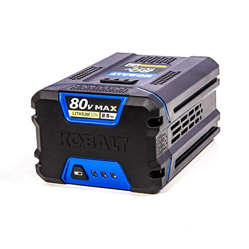 Kobalt 80-volt 2.5-Amp Hours Rechargeable Lithium Ion Cordless Power Equipment Battery KB 2580-06