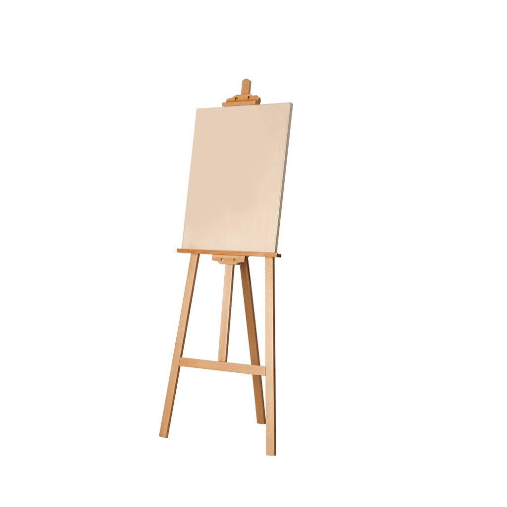 LIUFS Caballete De Madera Soporte De Exhibición Soporte De Pintura Al óleo Soporte Caballete + Tablero De Dibujo (Color : Madera, Tamaño : 1.75 m Easel+4K Drawing Board)