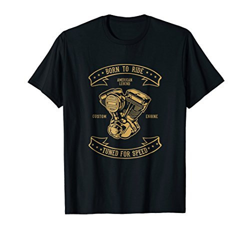 Retro Born to Ride Tuned for Speed (Old Dudes Rule T Shirt)