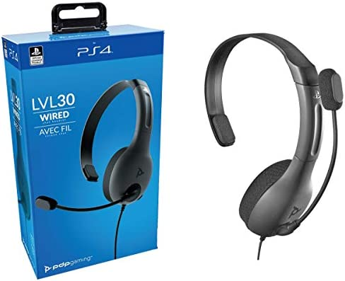 PDP - Auricular Mono Chat Gaming LVL30 Con Cable, Gris (PS4 ...