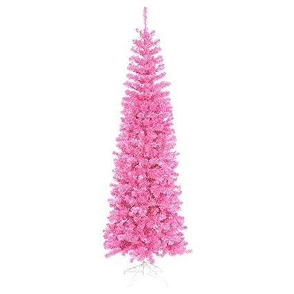 Pink Artificial Christmas Tree.Amazon Com Vickerman Pre Lit Hot Pink Artificial Pencil