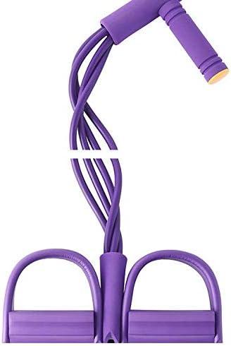 cuerda el/ástica con equipo de fitness el/ástico adelgazamiento 4 tubos de yoga Banda de resistencia a pedales brazo expandir abdomen l/átex natural para culturismo