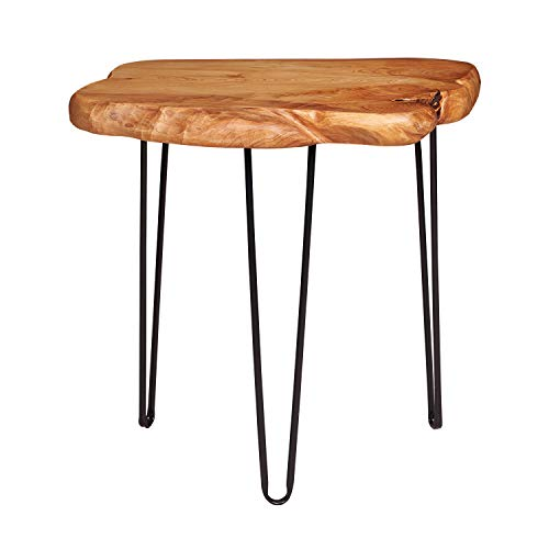 NXN-HOME Natural Edge Side Table, Live Edge End Table with 3 Hairpin Legs, Nightstand Plant Stand for Bedroom and Living…