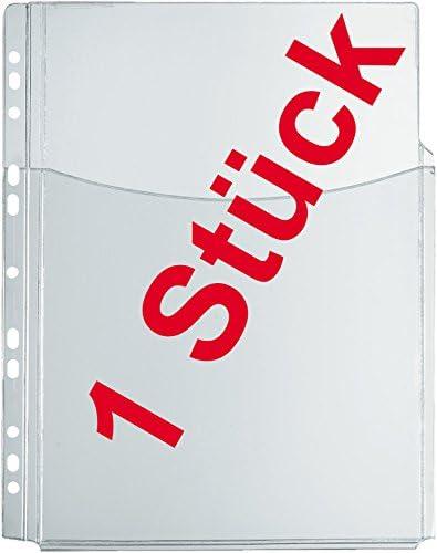 Katalog-Tasche A4, Herlitz, PVC-Folie, oben offen, mit Falten für hohes Füllvermögen, Eurolochung, transparent, 1 Stück