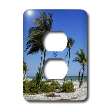 3dRose LLC lsp_7283_6 Fort Myers Beach Paradise 2 Plug Outlet - Myers Fort Outlet