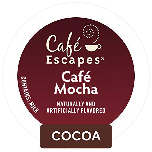 (Cafe Escapes Cafe Mocha Keurig Single-Serve K-Cup Pods, 0.52 Oz, 24 Count)