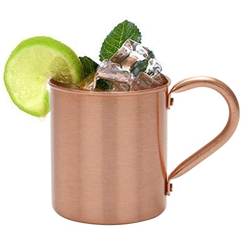 (Tumblers - 420ml Coffee Water Moscow Mule Milk Pure Copper Cup Mug Solid Smooth Beer Cocktail - Horn Figure Beer Mule Glass Footrest Steel Coffee Skull Cake Chair Stainless Poker Horse Warrio)