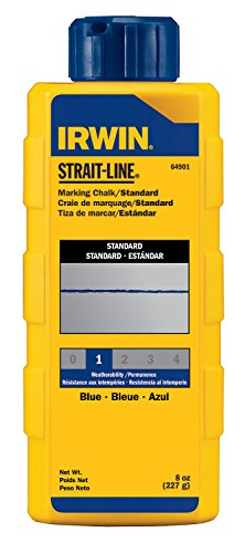 INE 64901 Standard Marking Chalk, 8-ounce, Blue (64901) (Strait Line Marking Chalk)