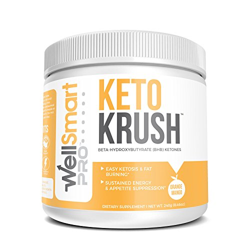 KETO KRUSH Keto Orange Mango Powder Supplement  Fast, Easy Ketosis  Organic Beta Hydroxybutyrate (BHB) Ketones  Ketogenic Diet Support, Energy Booster, Appetite Suppressant & Fat Burner