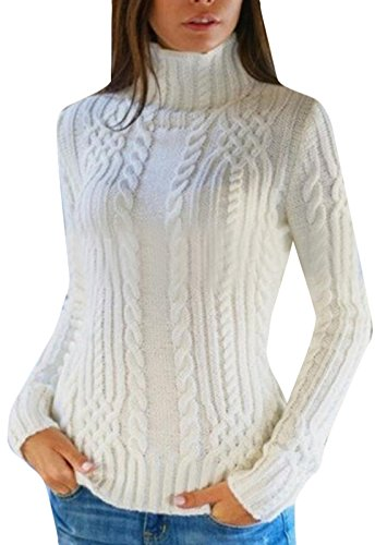 XTX-Women-Fashion-Hemp-Turtleneck-Slim-Fit-Sweater