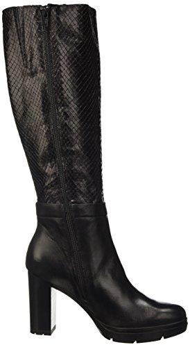 Manas 162m4205reuq, Zapatos de Cordones Derby para Mujer negro
