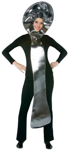 Rasta Imposta Spoon Costume, Silver, One Size Fits Most Adults -
