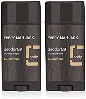 product image for Every Man Jack Deodorant - Sandalwood | 3-ounce Twin Pack - 2 Sticks Included | Naturally Derived, Aluminum Free, Parabens-free, Pthalate-free, Dye-free, and Certified Cruelty Free