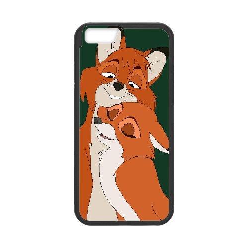 Fox And The Hound 003 coque iPhone 6 4.7 Inch Housse téléphone Noir de couverture de cas coque EOKXLLNCD09377