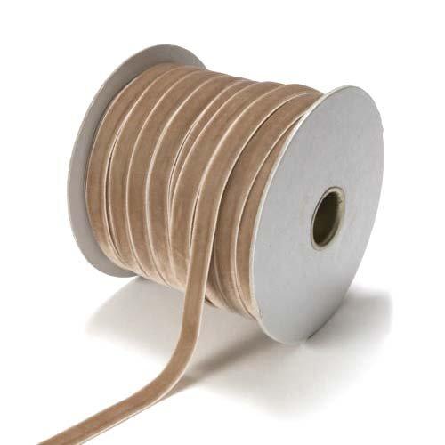 Gold Velvet Ribbon - Scrapbooking Flat Velvet Ribbon 3/8 Inch
