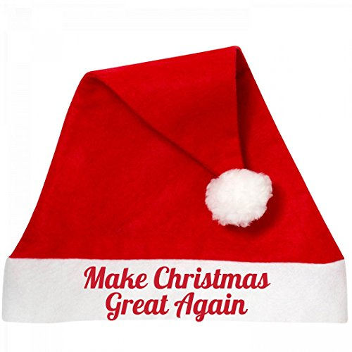 Customized Girl Make Christmas Great Donald Trump: Personalized Santa Hat