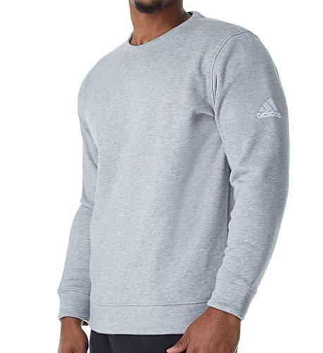 adidas Climawarm Performance Fleece Crew (653F) XL/Med Grey Heather/White