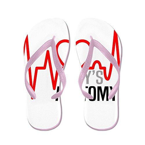 Cafepress Greys Anatomy Llove - Flip Flops, Grappige String Sandalen, Strand Sandalen Roze