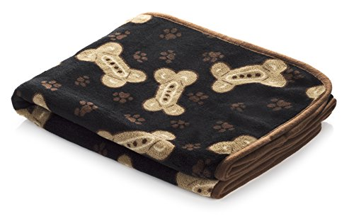 Snuggle Pet Products Blanket for Dogs and Cats, 48 by 0.5 by 30-Inch, Black by Snuggle Pet Products