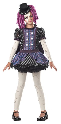 Girls Scary Doll Costumes - California Costumes Broken Doll Child Costume,