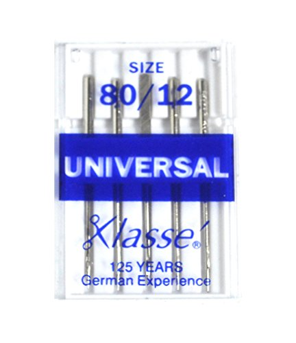 Klasse Size 80/12 Universal Embroidery Needles 5 Pack AS-10080