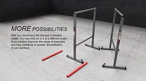 barres parallèles de callisthénie Fitness Barres parallèles 108cm avec base sécurisée gym K-SPORT