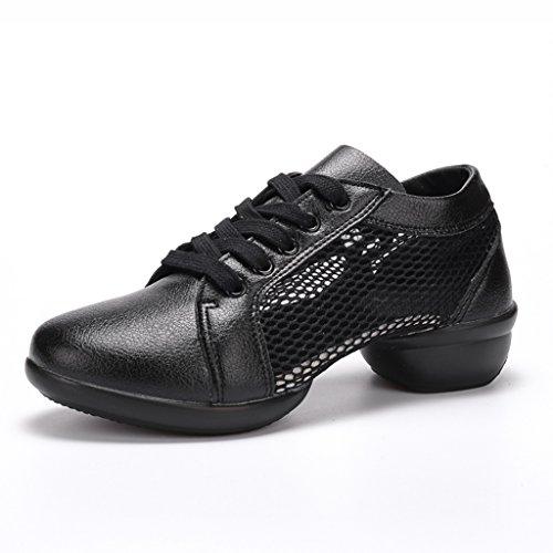 de Été de 40 Couleur Sport pour Femmes Respirant Femmes Sport Chaussures femme Chaussures Taille Noir Chaussures Danse Mou Blanc Adultes pour HWF Fond Chaussures wAt0qM7