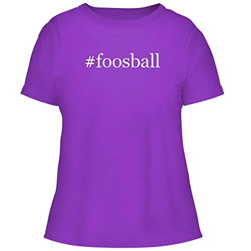 BH Cool Designs #Foosball - Cute Women's Graphic Tee, Purple, (Voit Tabletop)