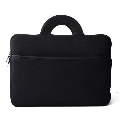 TopCase Black Protective Neoprene Cushion Sleeve Bag Case with Handle for All Apple Macbook white / Macbook Pro 13